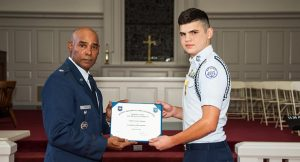 R-MA Cadet Honored with Gold Valor Award